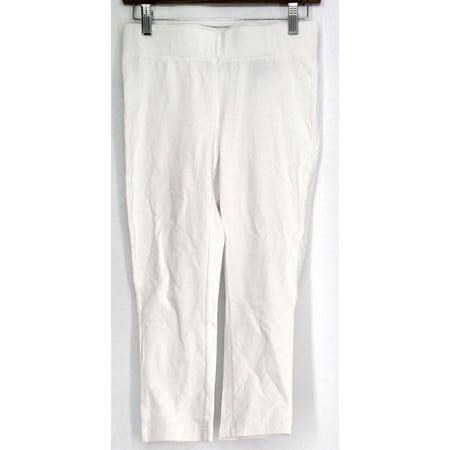 Slimming Options for Kate & Mallory Leggings S Stretch Knit Capri White A423883 ()