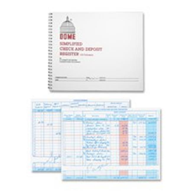 Dome Publishing Company- Inc.  Check-Deposit Register- 50 Pages- 10-.25in.x8-.50in.- Gray - image 1 of 1