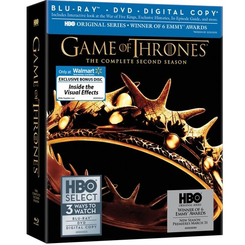 Game Of Thrones: The Complete Second Season (Blu-ray + DVD + Digital Copy + Bonus Disc) (Walmart Exclusive) (Widescreen)