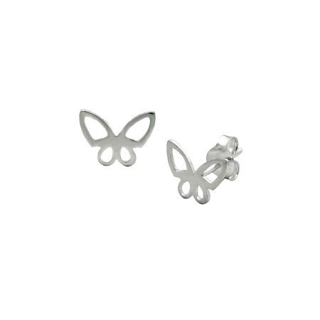 Exquisite Sterling Silver Butterfly stud earrings