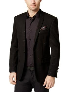 Tallia Mens Knit Glitter One-Button Blazer Black 42R
