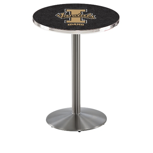 NCAA Pub Table by Holland Bar Stool, Stainless - Idaho Vandals, 42'' - L214