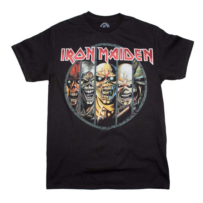 Global Merch GLO-IRM10167-M Iron Maiden Eddie Evolution T-shirt, Black - Medium - image 1 de 1