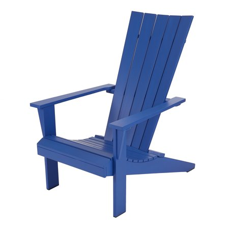 Mainstays Allenbeck 5-Slat Wood Adirondack Outdoor Chair, Multiple Colors