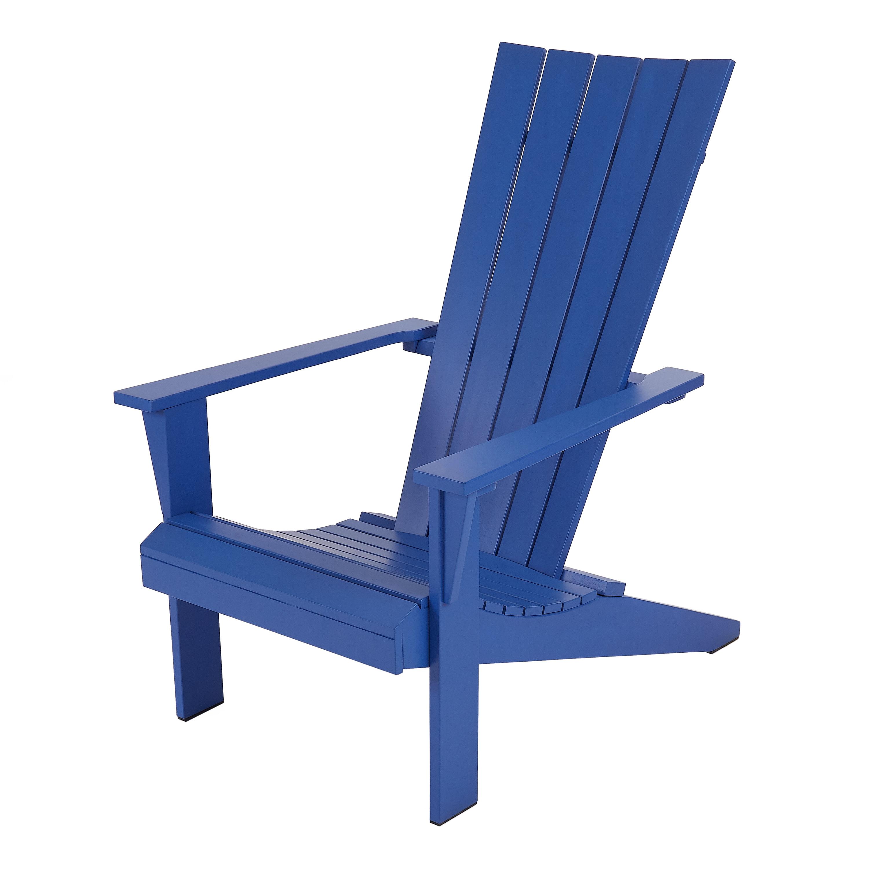 Mainstays Allenbeck 5-Slat Wood Adirondack Outdoor Chair, Multiple Colors