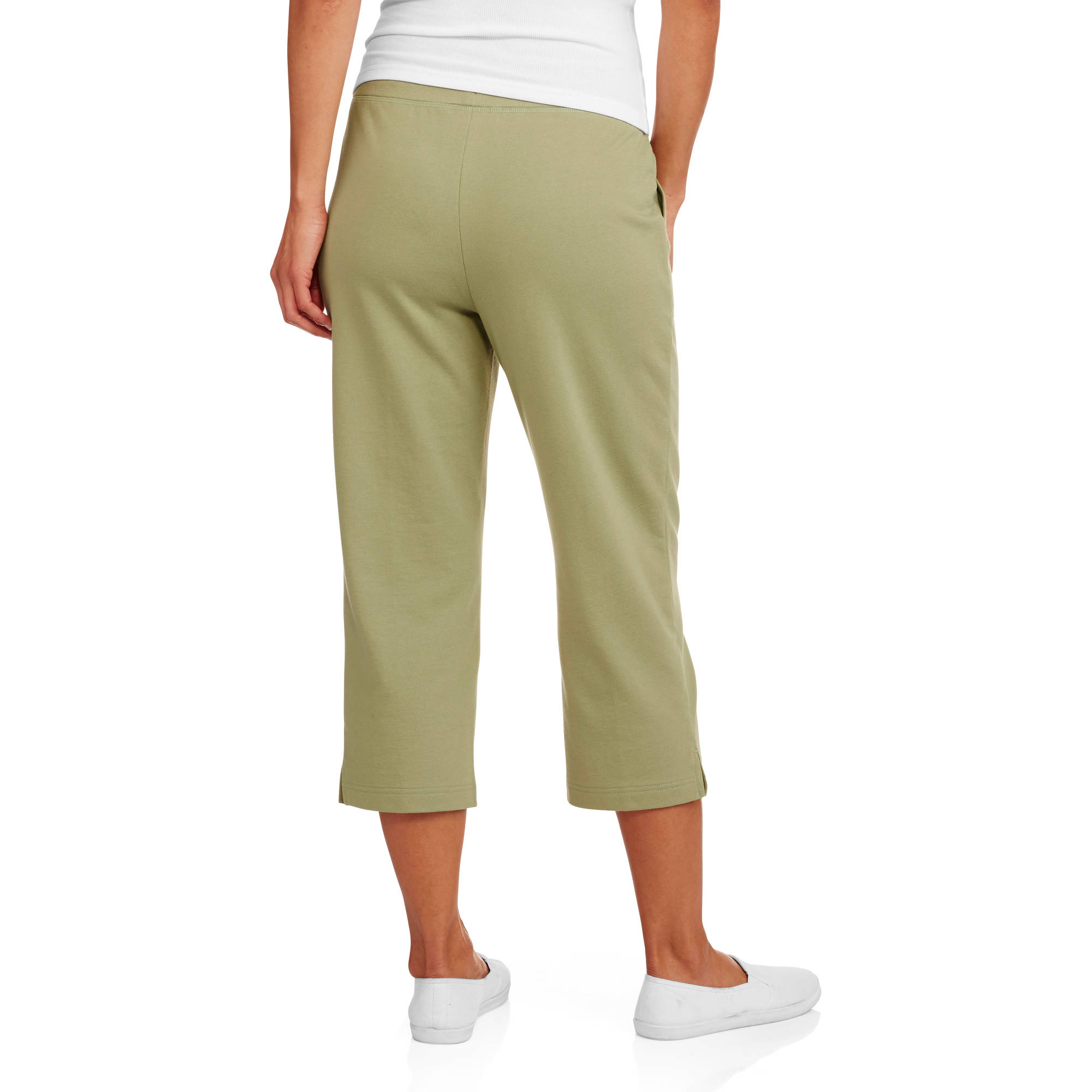 White Stag Women's Knit Pull On Capri Pant - Walmart.com