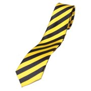 Trendy Skinny Tie - Striped Yellow and Black
