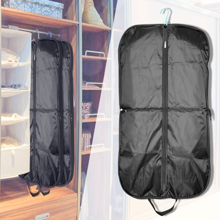 Fabric Garment Bag - [2 Pack] Black Garment Cover for Suits Travel Carrier Bag Cover,iClover Waterproof Hanging Breathable Garment Storage Handbag Covers Oxford Fabric Bag with Zipper (51.2'' x 23.6'')