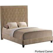 Leffler Home Eden Tufted Upholstered Queen Bed with Rails and Footboard