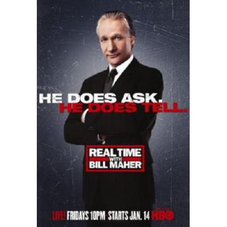 Real Time With Bill Maher Movie poster Metal Sign 8inx (Real Time With Bill Maher April 21 2017)