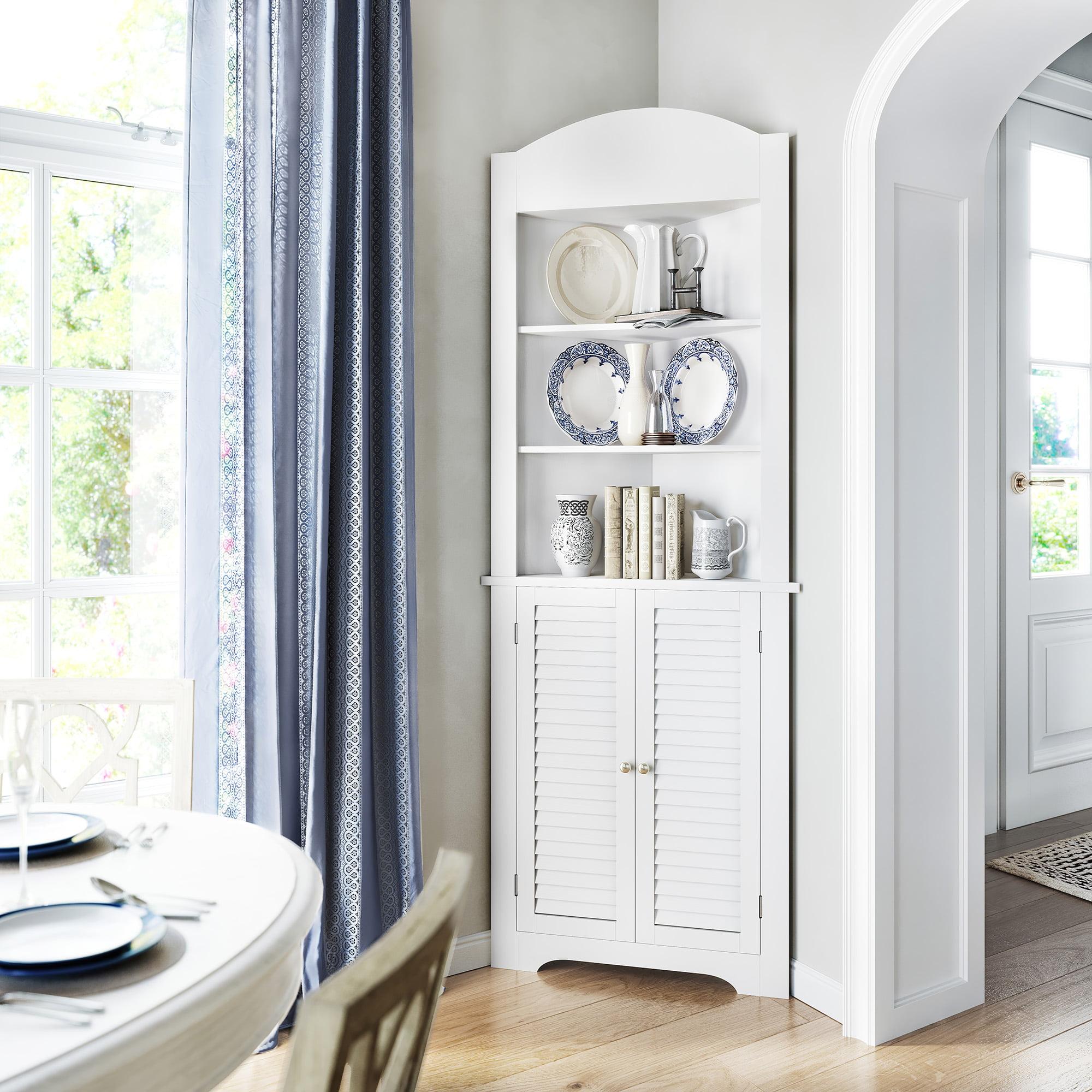 Corner Cabinet Small Bathroom Shelves Storage Organizer ...