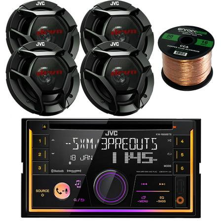 Vision Audio Bundle - JVC KWR930BTS Double DIN Bluetooth Car Stereo Receiver Bundle Combo With 4x JVC CSDR621 6.5