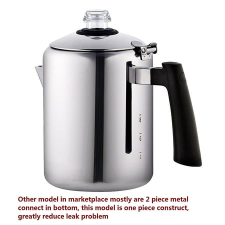 Cook N Home 8-Cup Stainless Steel Stovetop Coffee Percolator