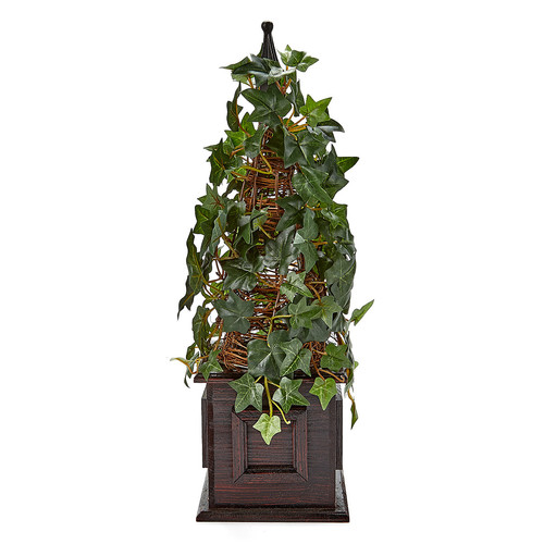 Silk Flower Depot Ivy Pyramid topiary in Pot