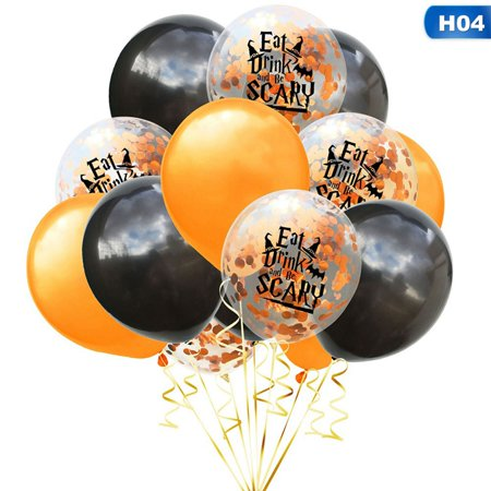 Halloween Decorations Balloons (AkoaDa Balloons for Halloween Decoration, Blood Handprints Footprint Emulsion Balloons 15.7in for Halloween Party Decoration Celebrate with Family and Friends -15pcs()