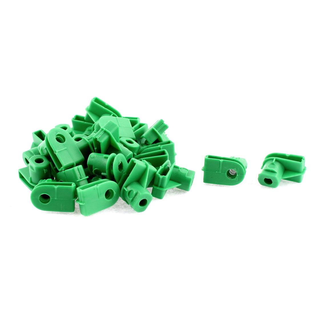 25 Pcs Green Plastic Splash Guard Defender Bumper Mat Clip for VW Audi