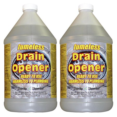 Fumeless Drain Opener - Professional Strength - Fast Acting - 2 gallon (Best Drain Cleaner For Roots)