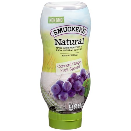 Smuckers Natural Concord Grape Fruit Spread  19 Ounce