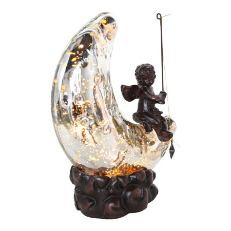 Half Moon Accent Light - River of Goods Moon and Cherub Accent Table Lamp