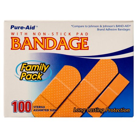 New 315407  Pure-Aid Bandage Asst 100Ct (12-Pack) Cough Meds Cheap Wholesale Discount Bulk Pharmacy Cough Meds
