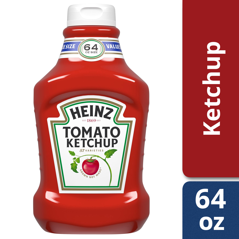 Heinz Fridge Fit Tomato Ketchup, 64 oz Bottle