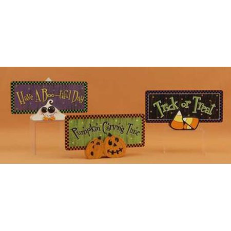 Youngs Halloween Table Decoration - Cute Trick or Treat Halloween Theme 3pc. Set (Halloween 9 Theme Song)