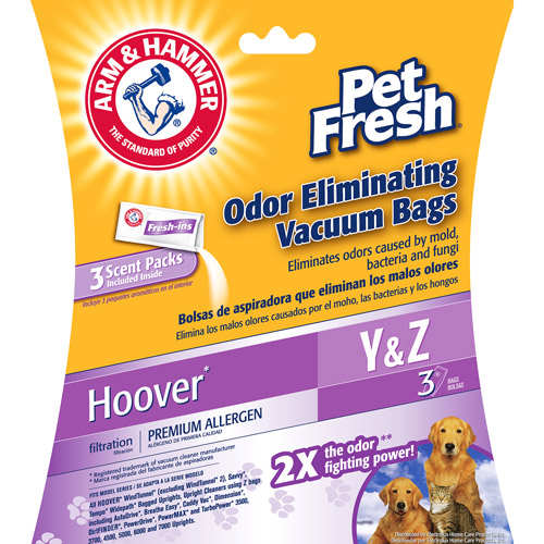 Arm & Hammer Hoover Pet Fresh Odor Eliminating Vacuum Bags, 6-Pack