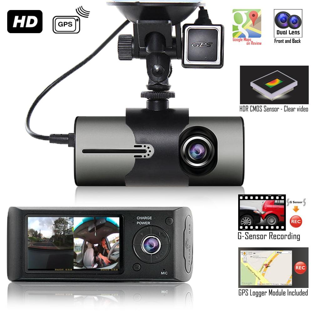 "Indigi XR300 Wide Angle Dash Cam DVR Recorder + 2.7"" LCD + GPS Module + Google Maps Route Trace"