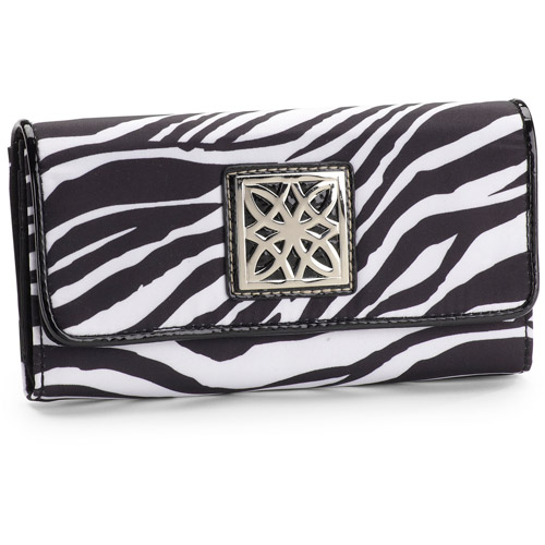 George Women's Print Flap Clutch Wallet