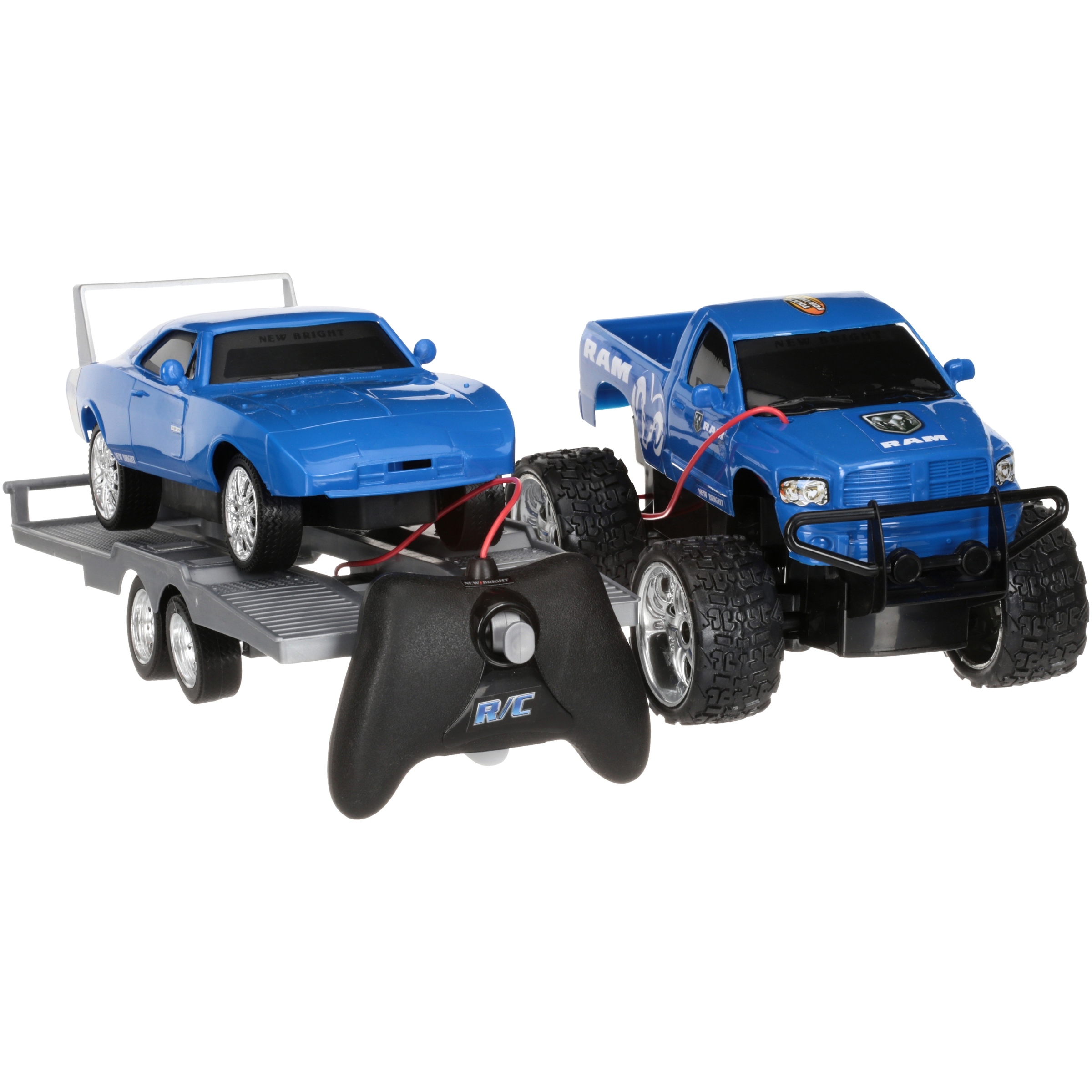 Adventure Force Ram '69 Daytona Charger Custom Cruiser Radio Control Truck Set 4 pc Box by New Bright Industrial Co., Ltd.