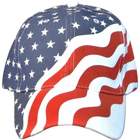 American Flag Ball Cap Hat Us USA Patriotic Stars and Stripes Baseball Cap