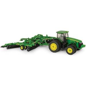 Ertl John Deere 8320R Tractor and Model 637 Disk Set, 1:64 Scale by TOMY