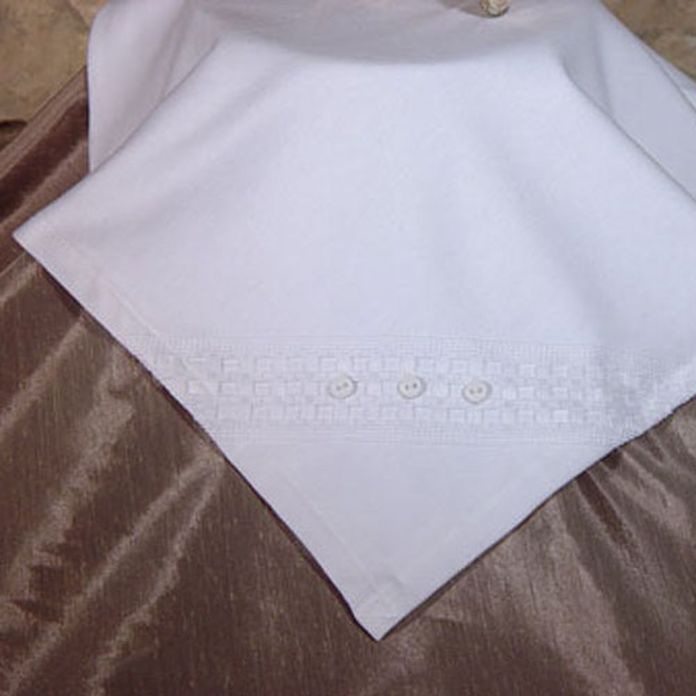 Little Things Mean A Lot Baby White Cotton Blanket Baptism Windowpane
