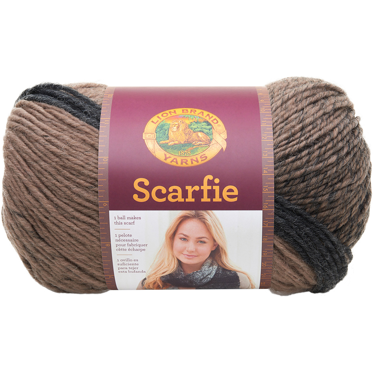 Lion Brand Yarn Scarfie Acrylic Wool Blend Bulky Yarn