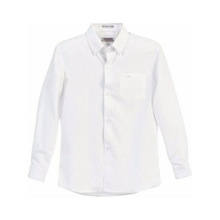 Gioberti Boys White Chest Pocket Long Sleeved Oxford Dress Shirt