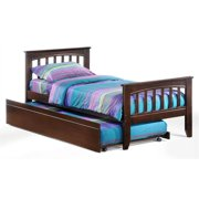 Sasparilla Twin Bed in Chocolate w Trundle