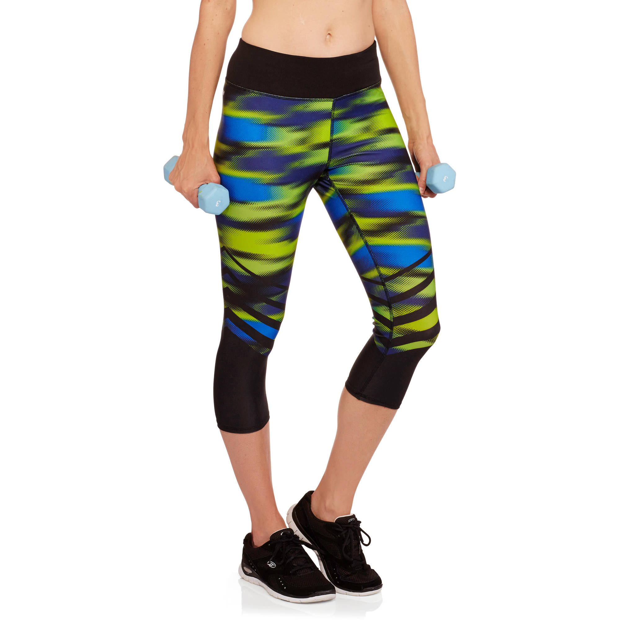 Danskin Now Women's Active Graphic Performance Capri Leggings