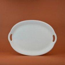 Ceramic bisque unpainted unfinished large oval platter with handles ck7175 - Talavera Ceramic Platter