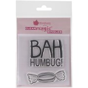 """Woodware Clear Stamps 3.5""""X3.5""""-Bah Humbug!"""