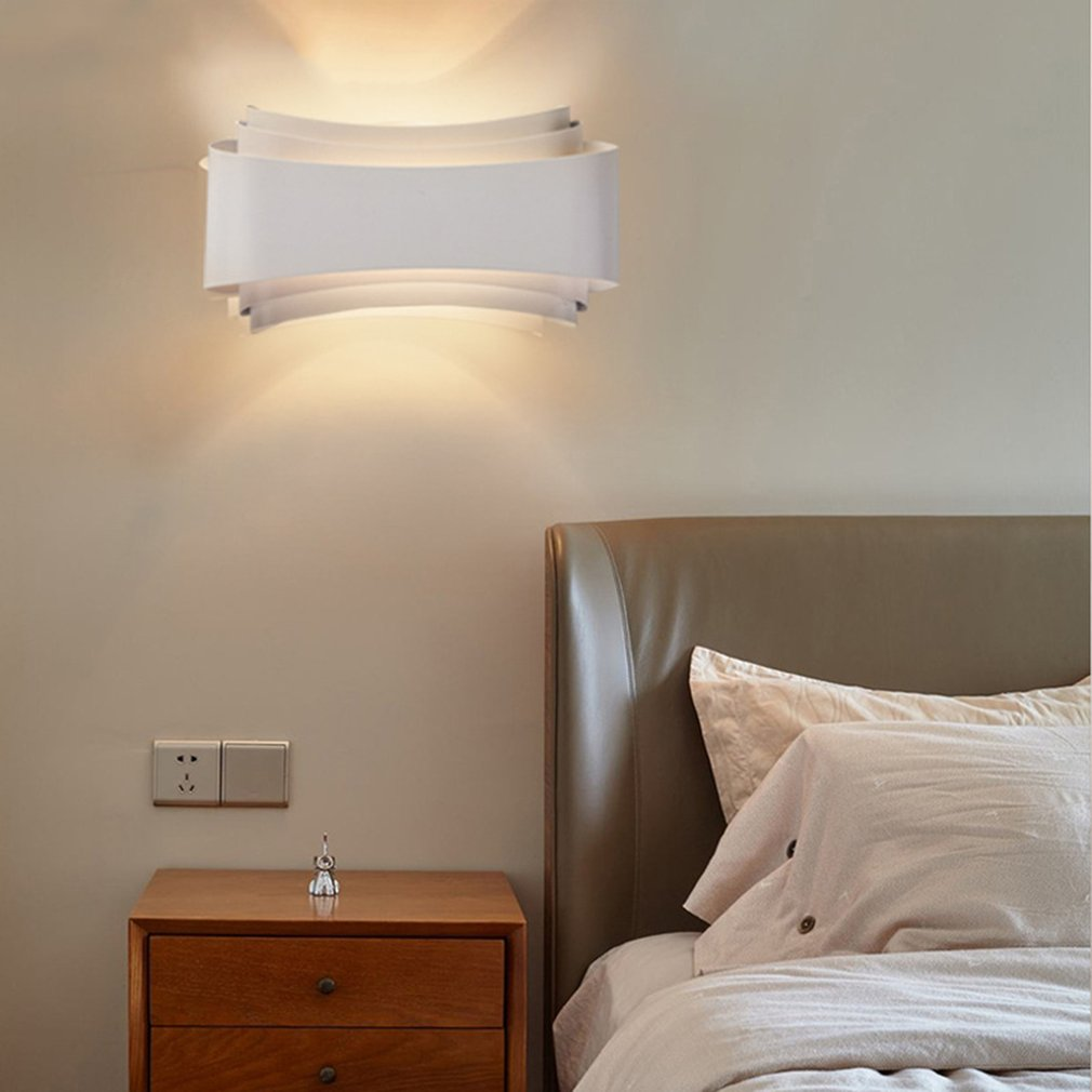 Modern Minimalism Led Wall Lights Hotel Living Room Aisle Bedside Wall Lamps by