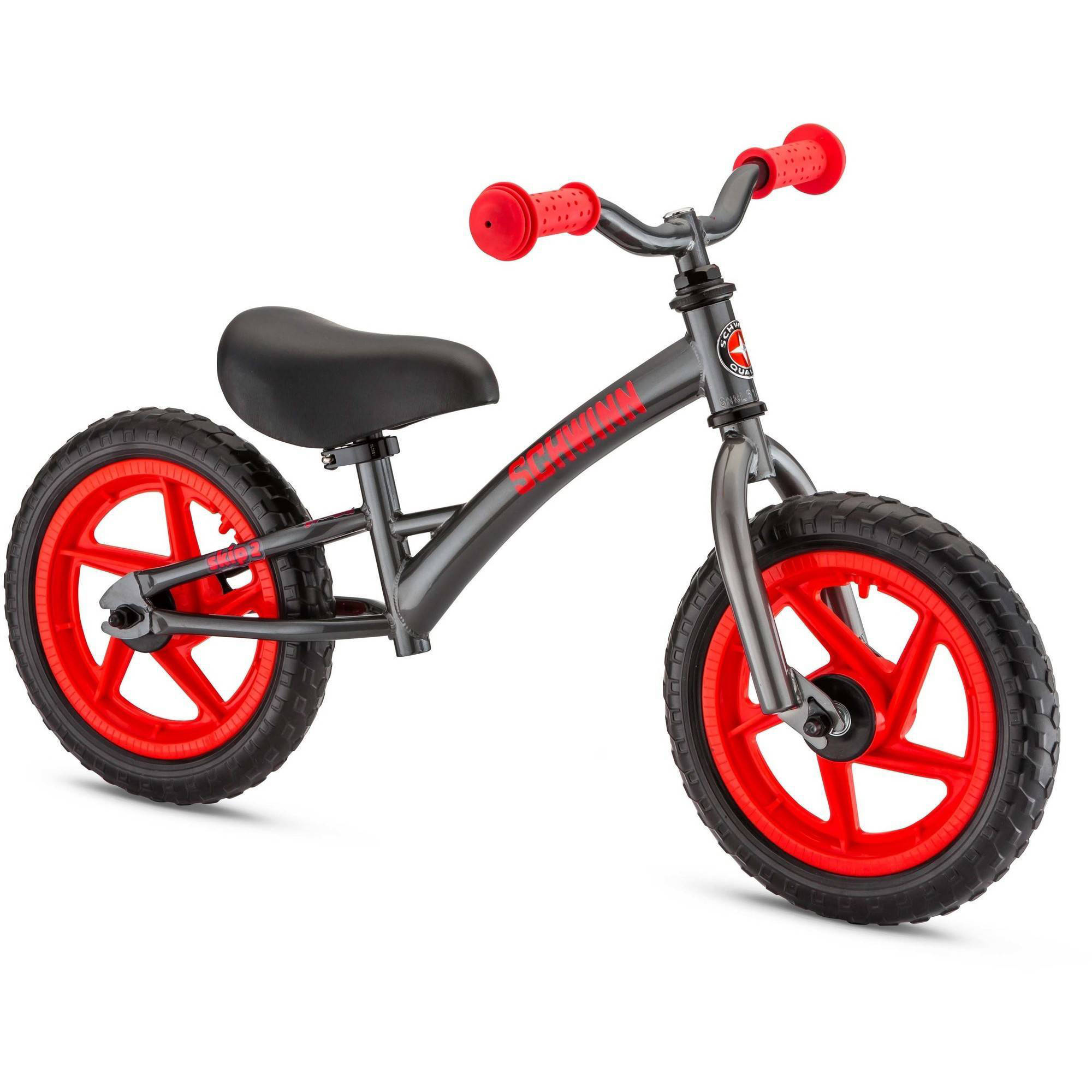 "12"" Schwinn Skip 2 Balance Bike, Graphite / Red"