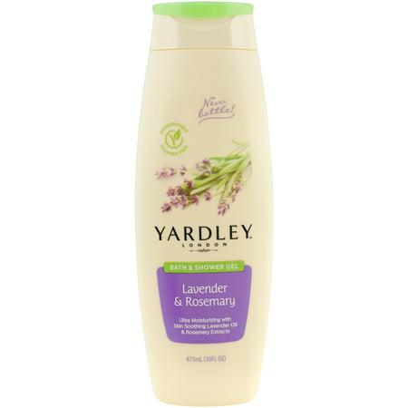Yardley London Bath & Shower Gel, Lavender & Rosemary, 16 Oz