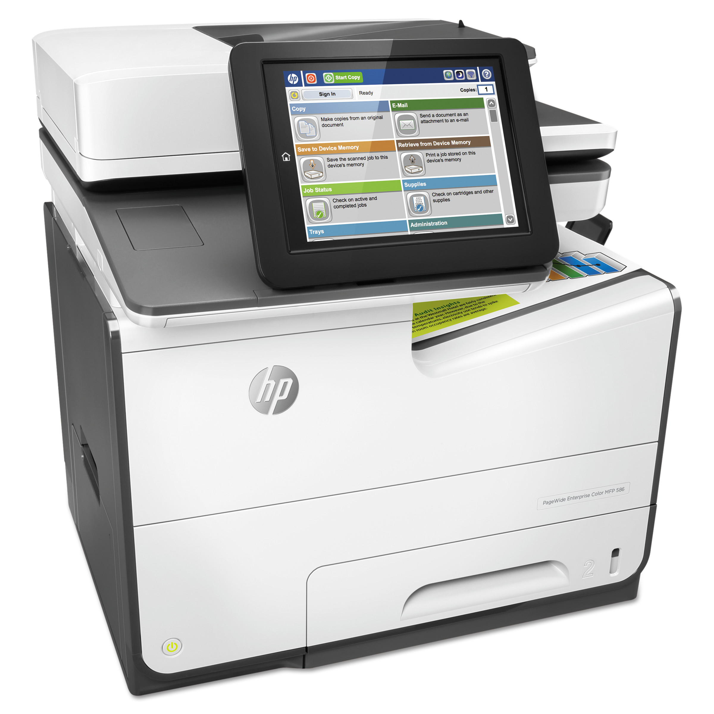HP PageWide Enterprise Color MFP 586dn, Copy/Print/Scan -HEWG1W39A