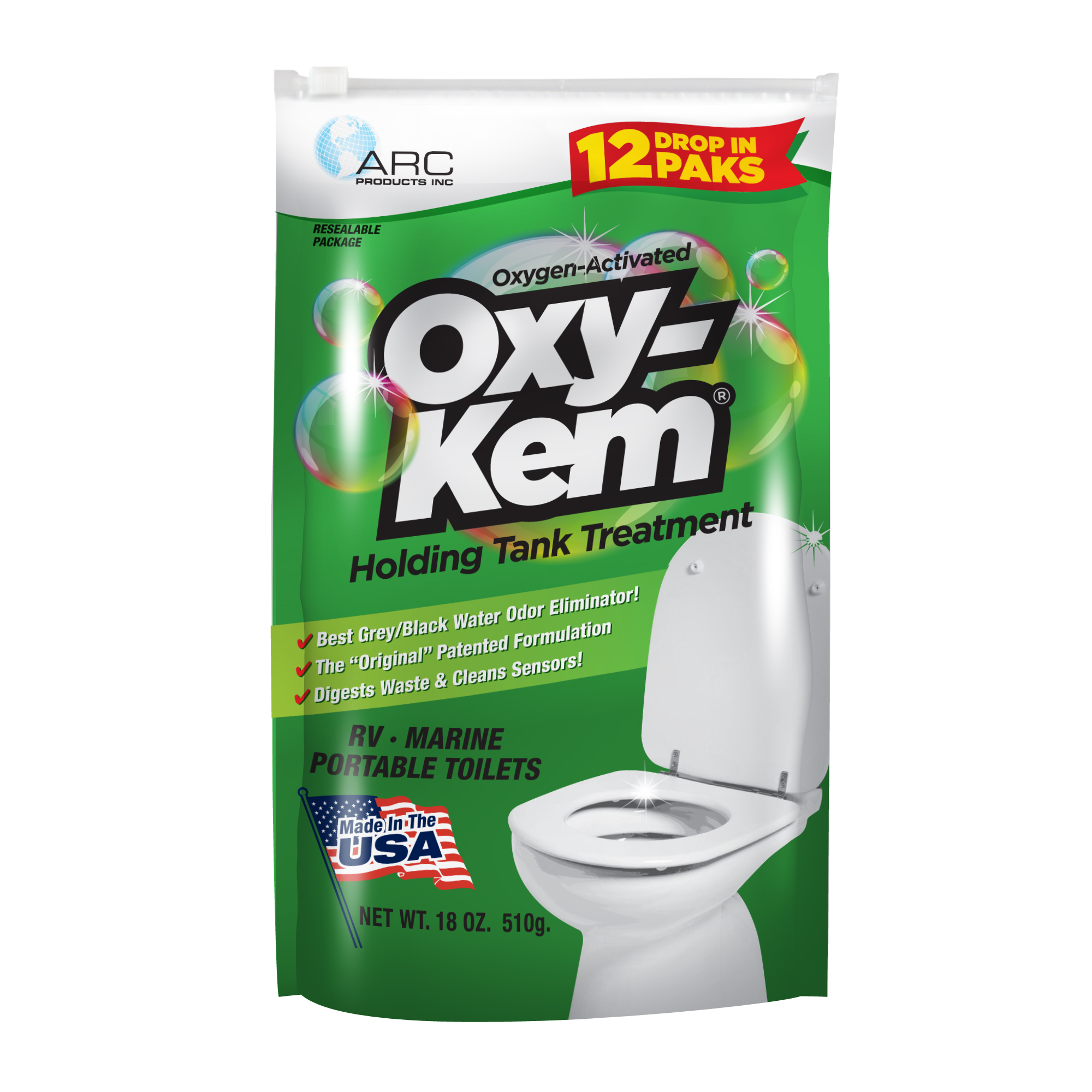 Oxy-Kem Holding Tank Treatment, 12pk