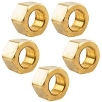 """5 Pack 1/2"""" Compression Nut & Ferrule Combo for 1/2"""" OD Tube Brass Sleeve Nut"""