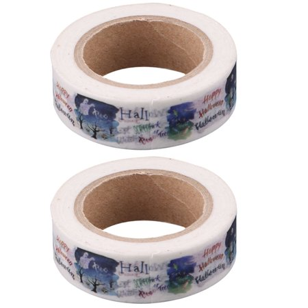 Office Washi Paper Letter Pattern Box Cardboard Label Tape Roll 10M Length 2pcs