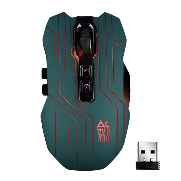 9D 3200DPI Optical 2.4G Wireless Gaming Mouse For DotA FPS Laptop PC