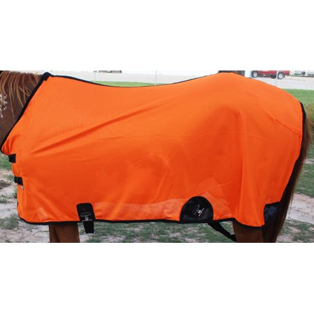 Horse Fly Sheet Summer Spring Airflow Mesh UV Orange 7309 Fly Scrim Sheet