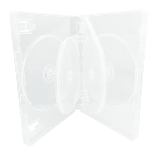 CheckOutStore 208 Clear 6 Disc DVD Cases /w Patented M-Lo...