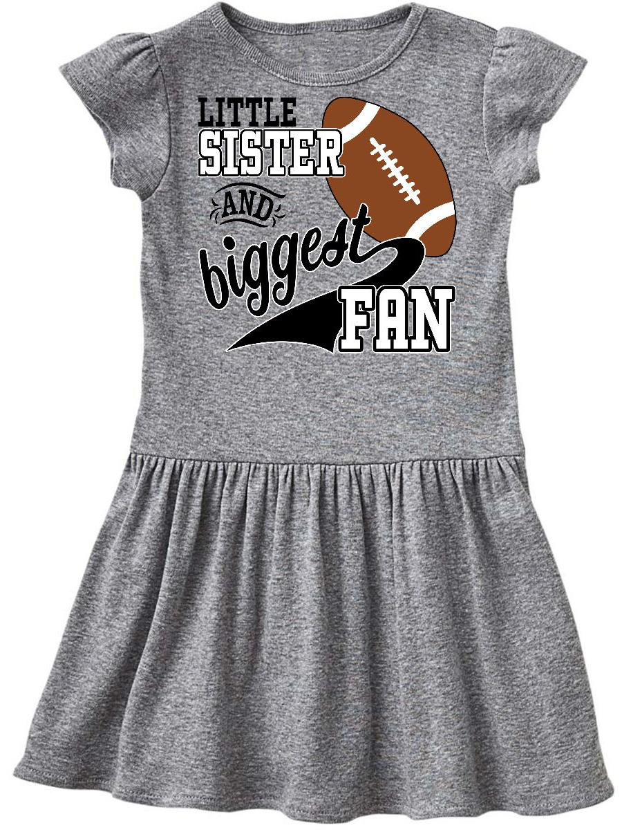 Little Sister and Biggest Fan- football player Infant Dress